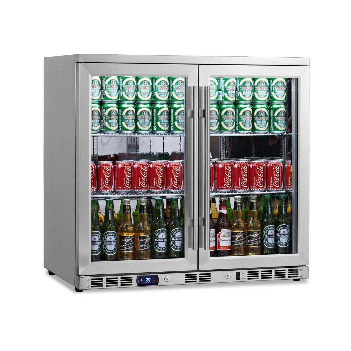 Kingsbottle 169 Can 2 Door Under Counter Beverage Cooler With
