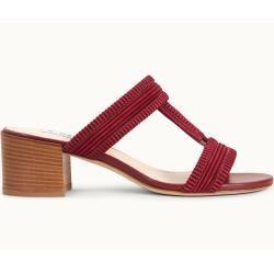 Photo of Tod's – Sandalen aus Veloursleder, Rot, 40 – Shoes Tod'sTod's