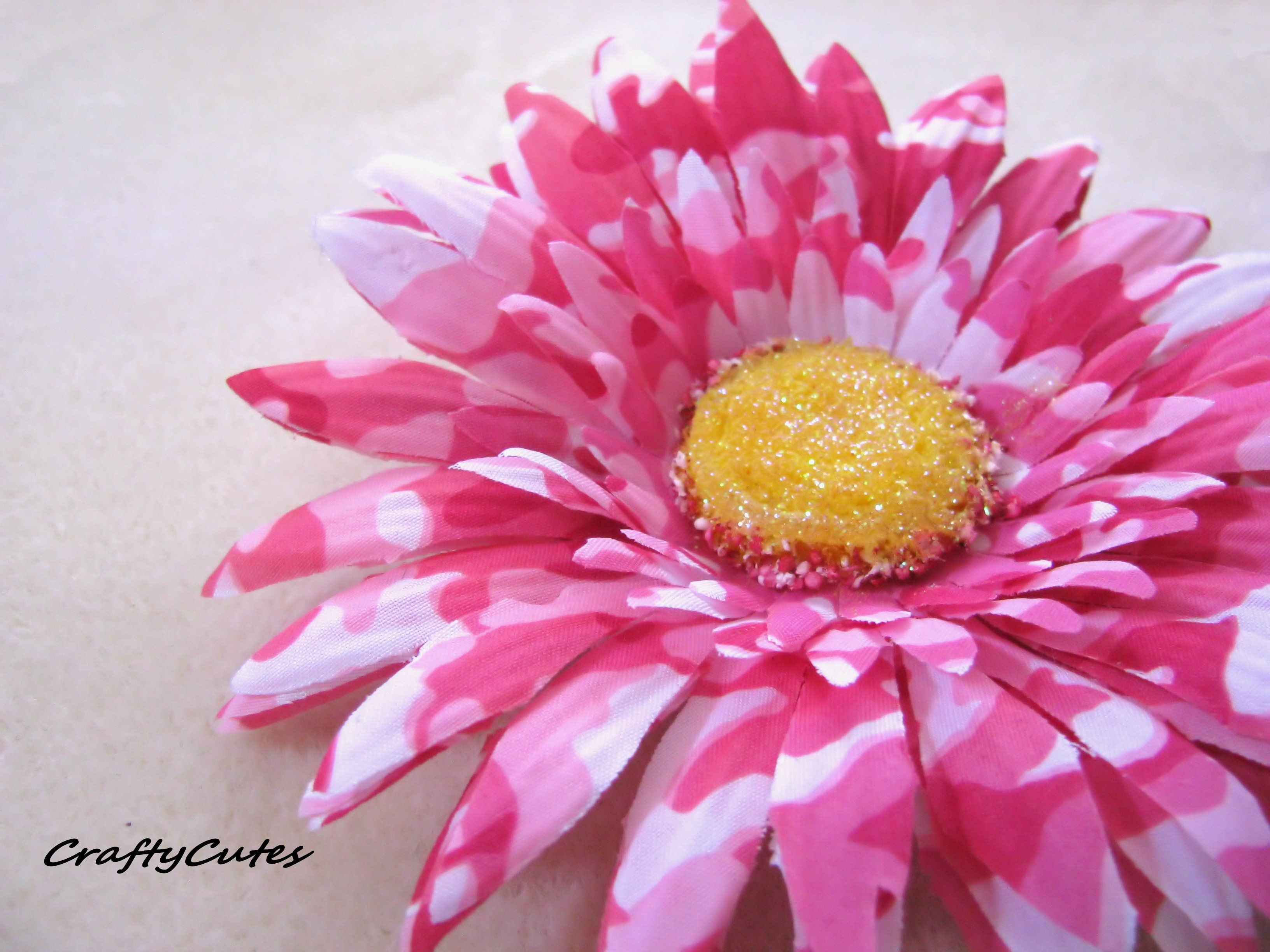 Pink Camo Flower Hand Crafted Hair Clip   Camo   Pinterest   Pink ...