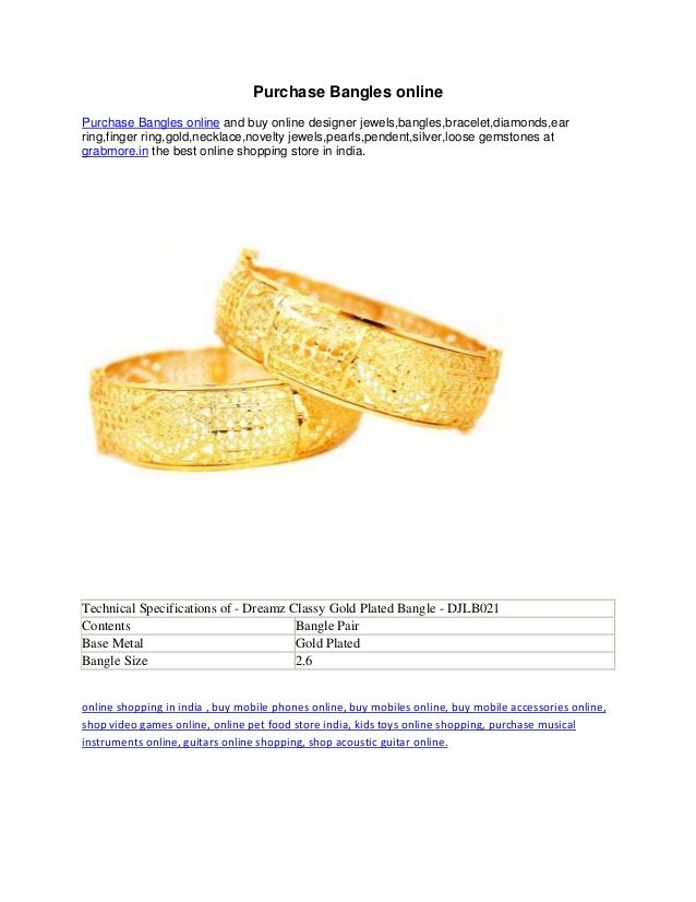 Purchase bangles online by Sara Williams via slideshare
