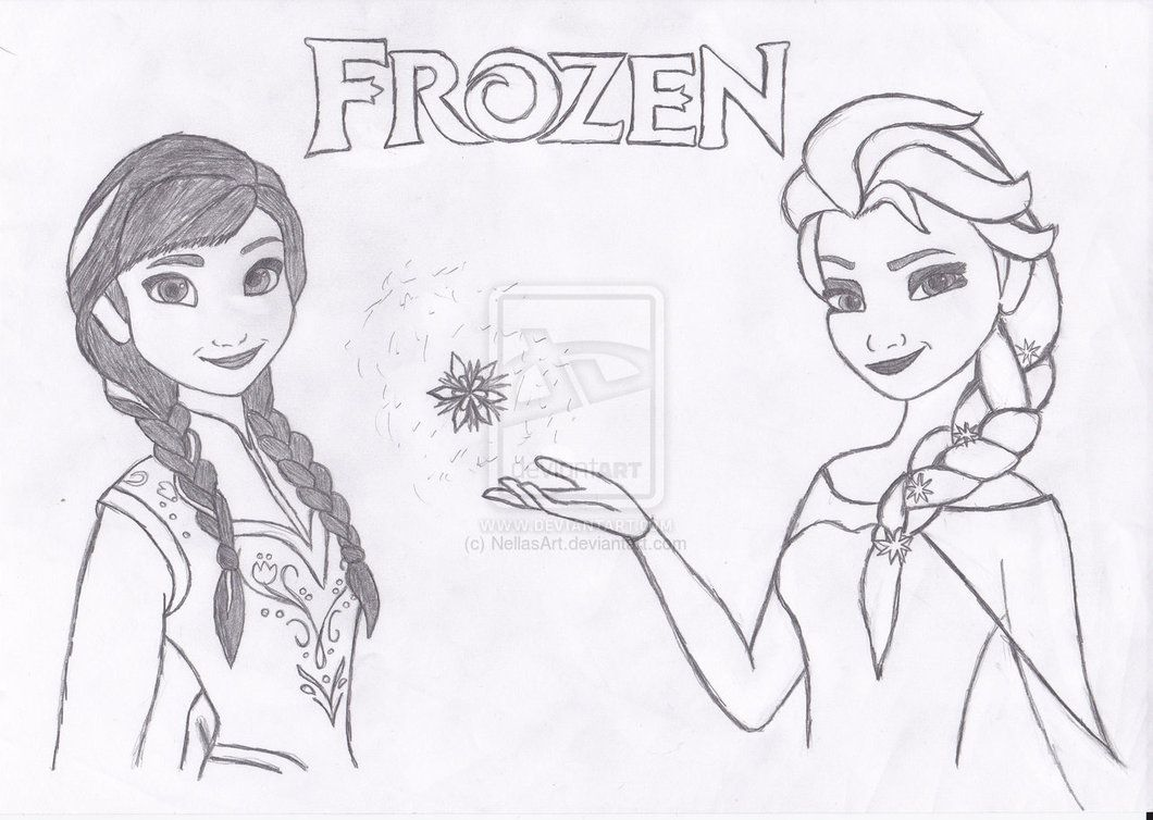 coloring pages of anna and elsa little Princess Anna and queen