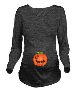 CafePress Charcoal Heather 'Lil' Pumpkin' Maternity Long-Sleeve Tee | Something special every day