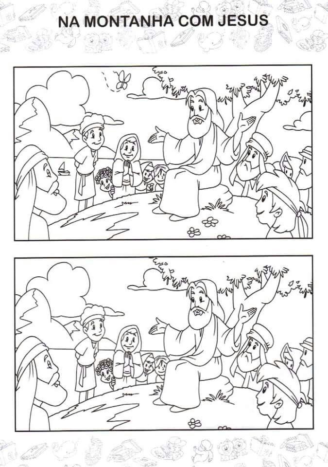 Atividades Biblicas Sete Erros Desenhos Biblicos Para Colorir