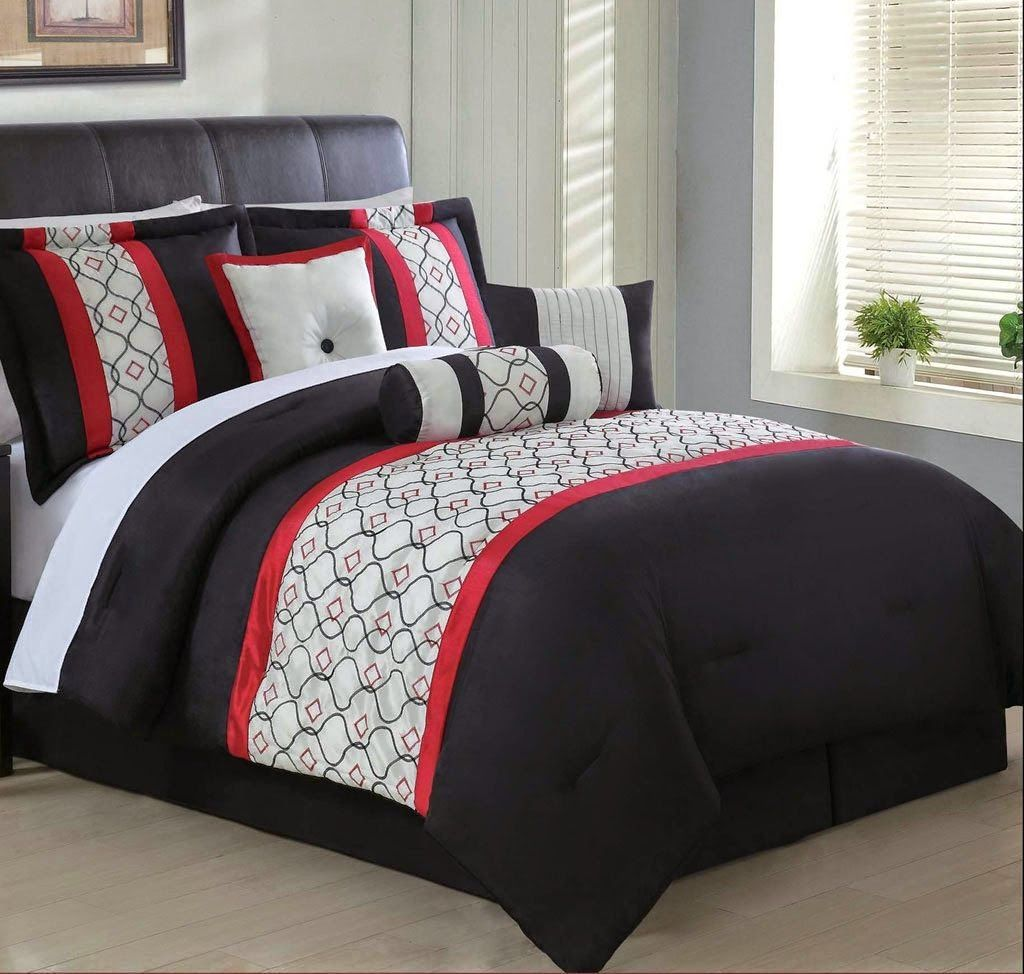 Red White And Black Comforters Bedding Sets Bright
