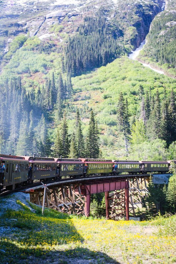 Skagway Alaska White P Railroad On M Loves Marmar