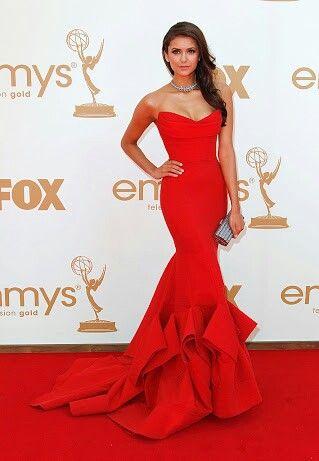 #ninadobrev #red #dress #elegant #thevampirediaries #idol