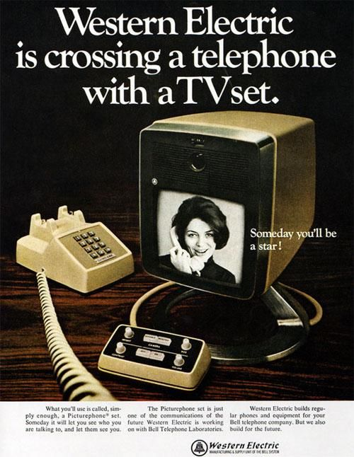 Western Electric is a crossing a telephone with a TV set | Retro advertising | Vintage poster #Affiches #Retro #Vintage #Ads #Adverts #SXX #deFharo #Publicidad