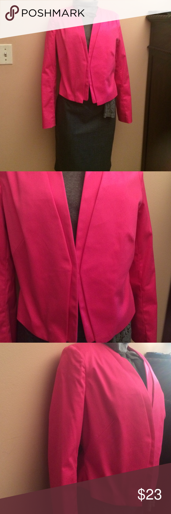 Hot pink blazer Very fitted blazer great with pants skirts and jeans. Brand new without tags. Worthington Other