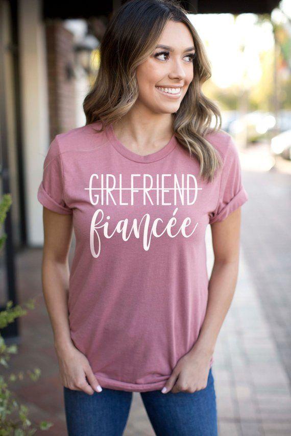 883067cb7 Engagement Gift, Engagement Shirt, Girlfriend Fiancee Shirt, Bachelorette  Party Shirt, Future Mrs, F