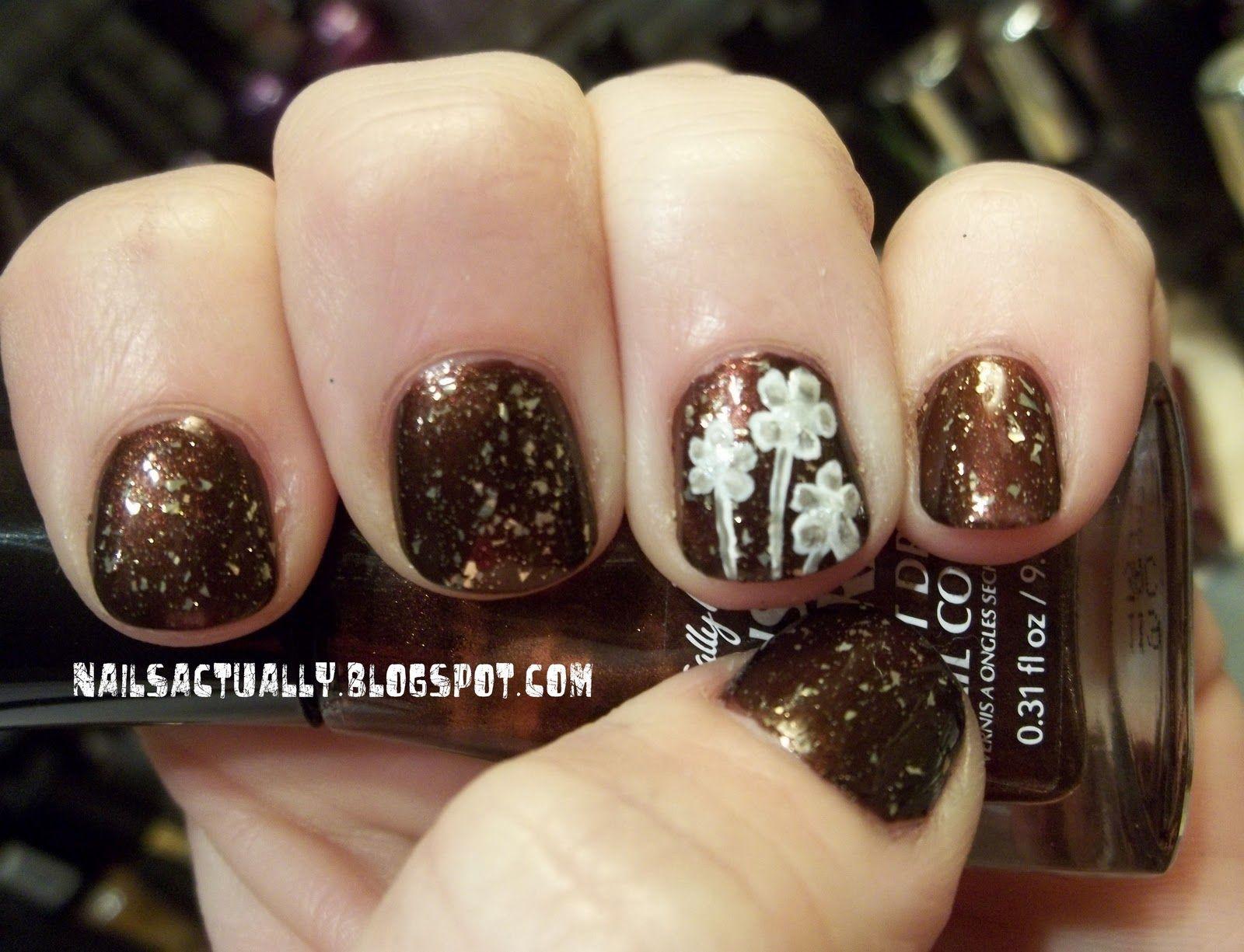 30 Fotos de uñas decoradas con color marrón – brown nails ...