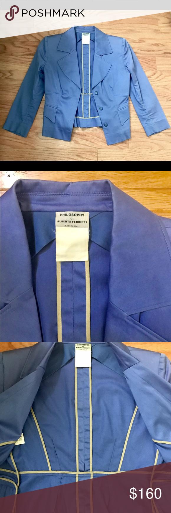 100% Authentic Alberta Ferretti ocean blue jacket 100% Authentic made in Italy Alberta Ferretti ocean blue jacket, used very good condition Philosophy di Alberta Ferretti Jackets & Coats Blazers