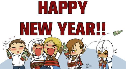 Happy New Year Hahaha So Cute Assassins Creed Assassin S
