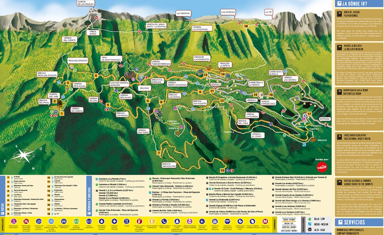 Mapa Parque Ecol 243 Gico Chipinque Bakpak Places To Visit