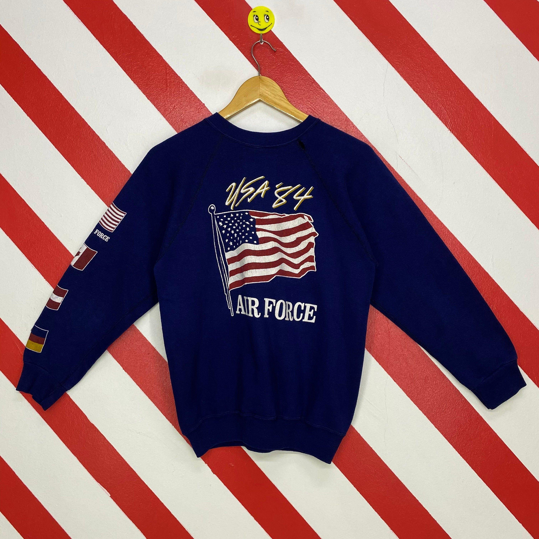 Vintage 80s Air Force Sweatshirt Air Force Crewneck Air Force Etsy In 2021 Air Force Sweatshirt Sweatshirts Long Sleeve Tshirt Men [ 3000 x 3000 Pixel ]