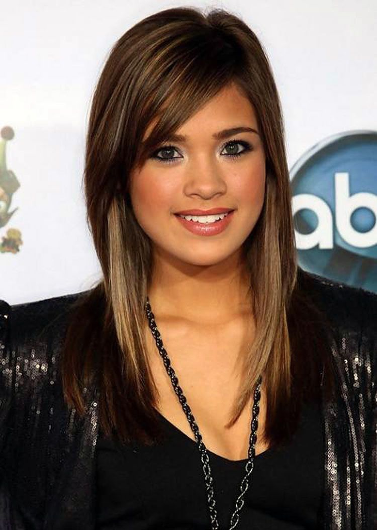 Long Layered Hairstyles with Side Swept Bangs   Long sleek hair, Long hair  with bangs, Sleek hairstyles