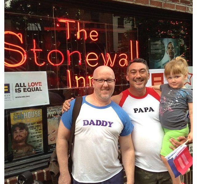 outside Stonewall, where history was made. Find this Pin and more on Gay  Family Values ...