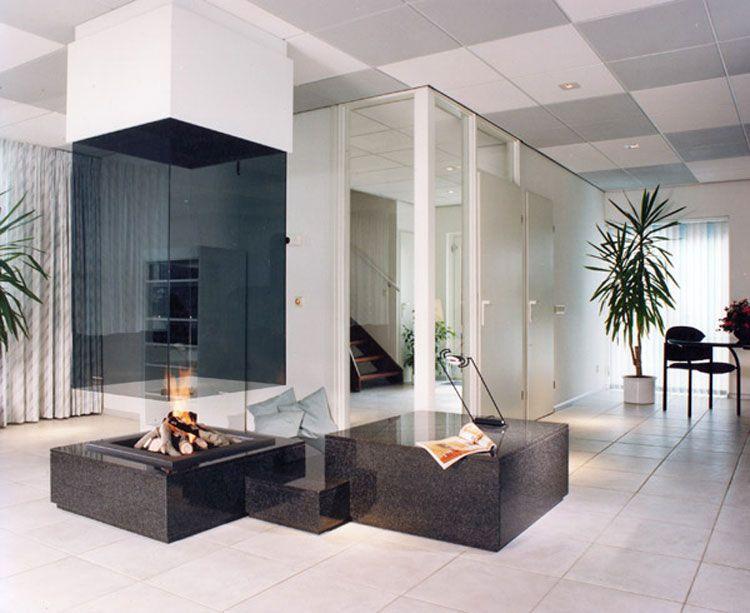 Caminetti Moderni Centrali : Spettacolari camini centrali di design camini divisori