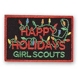 HAPPY HOLIDAYS LIGHTS SEW-ON PATCH $1.50