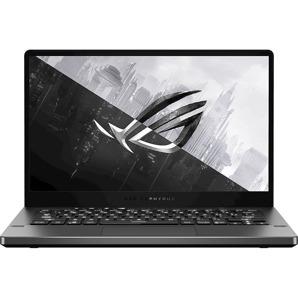 ASUS ROG Zephyrus G14 Laptop: Enjoy an immersive gaming experience with this ASUS ROG Zephyrus gaming laptop. The AMD Ryzen 7 4800HS and 16GB of RAM deliver fast responsive performance for seamless gaming, while the NVIDIA GeForce GTX 1660 Ti Max-Q graphics card produces crisp visuals on the 14-inch Full HD display. This ASUS ROG Zephyrus gaming laptop has a 512GB SSD, which shortens load times, letting you get into action swiftly.