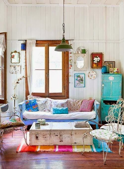 Living Room Decor Designs love this rustic modern decor. from the antlers to the shabby chic