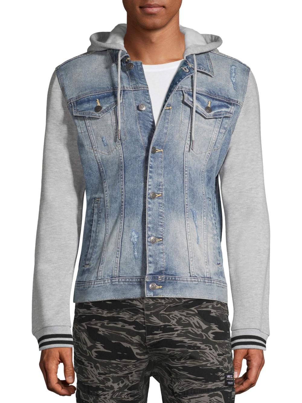 No Boundaries No Boundaries Men S And Big Men S Denim Jacket With Fleece Hood Up To Size 3xl Walmart Com Denim Jacket Men Denim Jacket Women Denim Jacket [ 1333 x 1000 Pixel ]