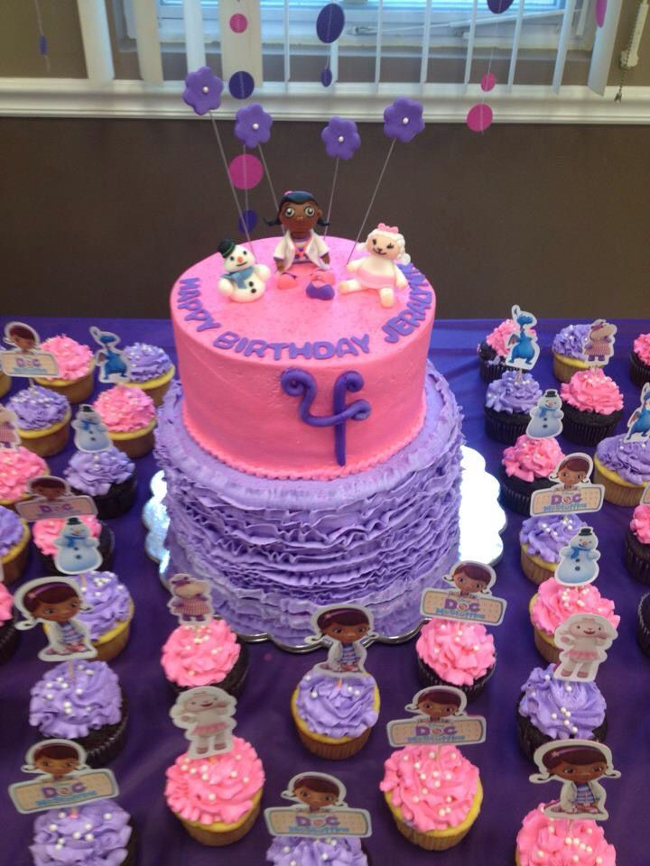 Doc Mcstuffins Cake And Cupcakes Baked By Lia Pinterest Doc