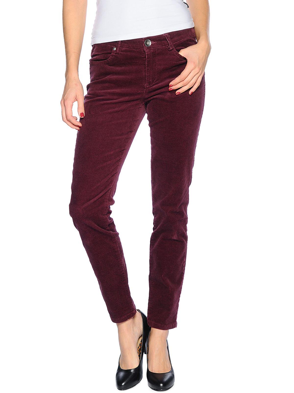 Sisley Pantalon De Pana Forma Normal 23 99 Pantalones De Pana Ropa Pantalones Vino