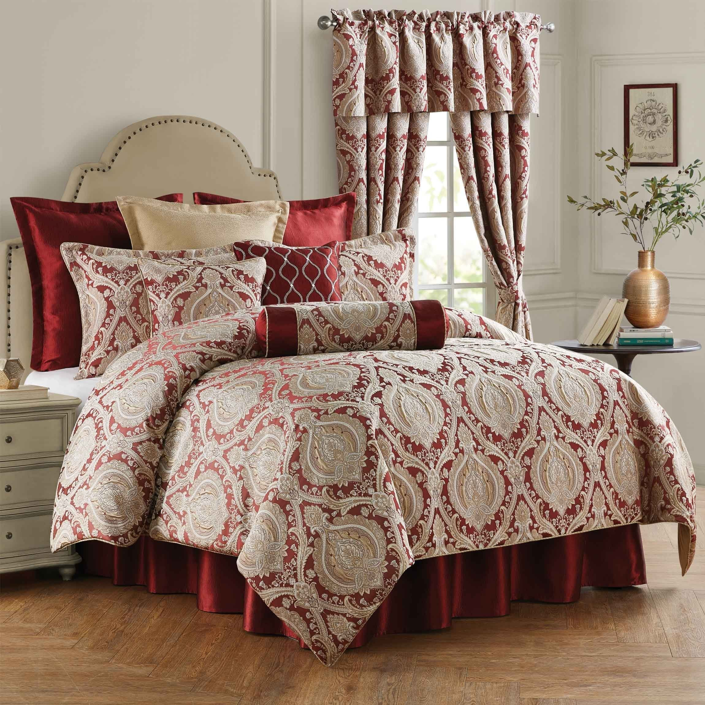 Norwich Wine 4 Piece Comforter Set Comforter Sets King Comforter Sets Rose Trees