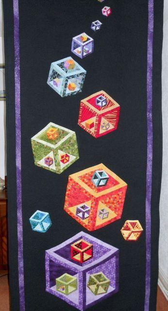 3D Cubes Quilt  Peace, Robert from nancysfabrics com