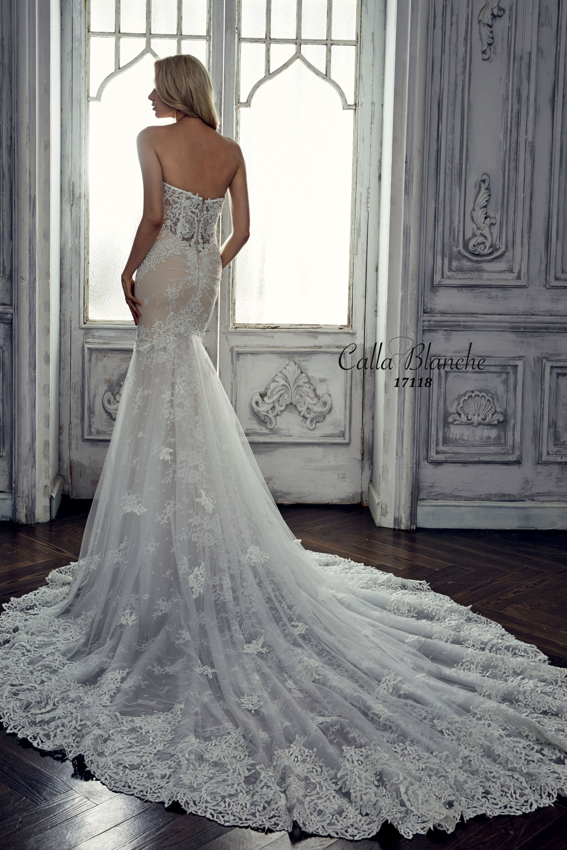 Calla blanche wedding dress gown marilyn ivory trumpet for Calla blanche wedding dress
