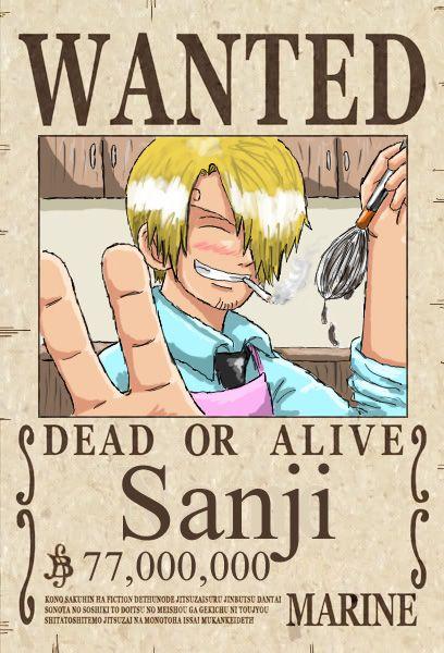 Sanji S New Wanted Poster One Piece Comic Bartolomeo One Piece One Piece Anime