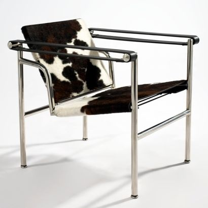 le corbusier basculant lc1 swing chair cowhide leather. Black Bedroom Furniture Sets. Home Design Ideas