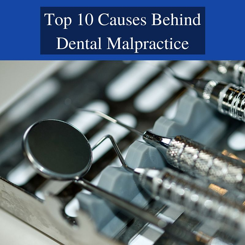 TOP 10 CAUSES BEHIND DENTAL MALPRACTICE If you or someone you love has an injury due to Dental Malpractice, Call 1-800-LundyLaw