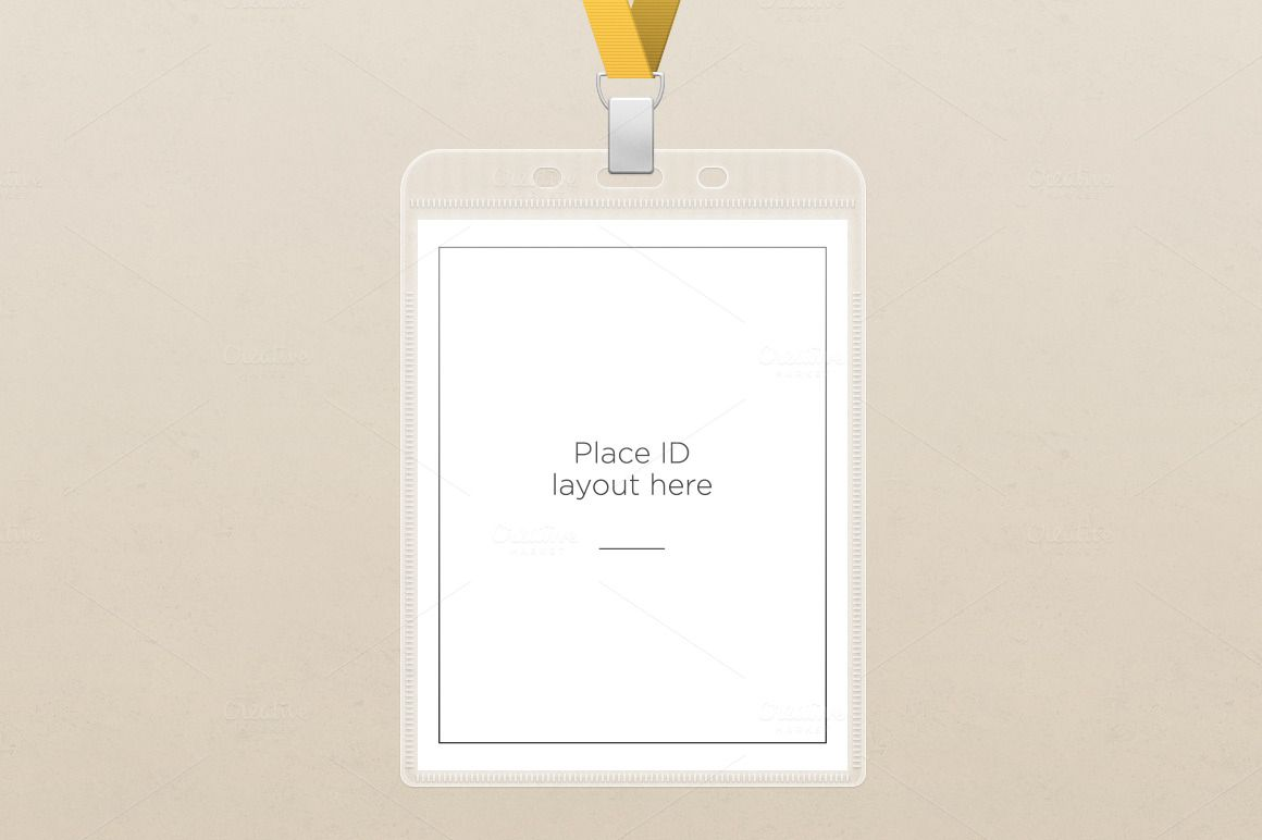 Id Badge Holder Template By Underscorevint On Creative Market