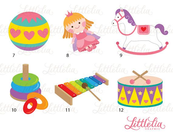 Baby girl toys clipart baby toys baby by LittleLiaGraphic