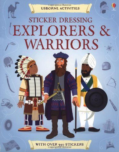 Sticker Dressing Explorers & Warriors (Usborne Sticker Dressing)  This might come in handy for more elaborate school projects that might be difficult with fine motor issues.  This company has all kinds of historical and current fashion stickers a kiddo can choose from.