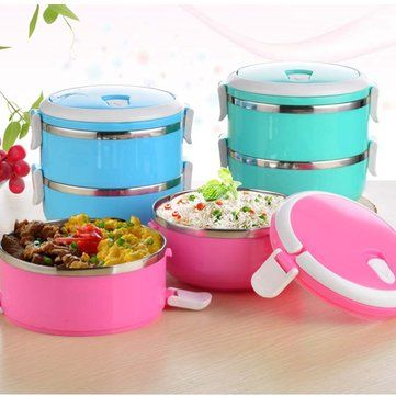 4 Layers Stainless Steel Thermal Insulated Lunch Box Bento Food