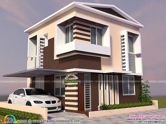 Beautiful small plot home design | TWO STOREY 3D HOUSE PLANS ...