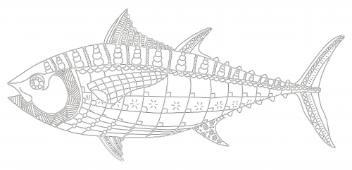 Tuna Fish Line Drawing Google Search Fish Coloring Page Fish Drawings Animal Coloring Pages