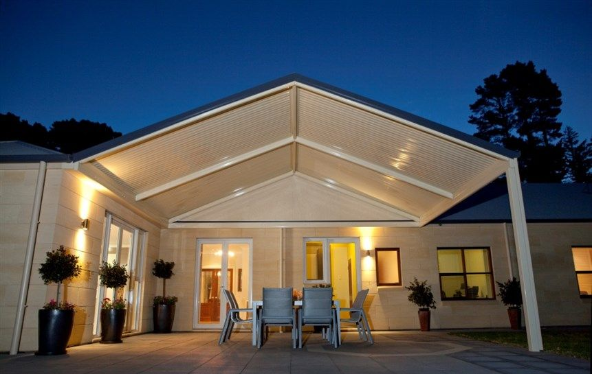 Stratco Outback Gable Available Now From Verandah Creations Porch Roof Styles Patio Builders Carport Designs