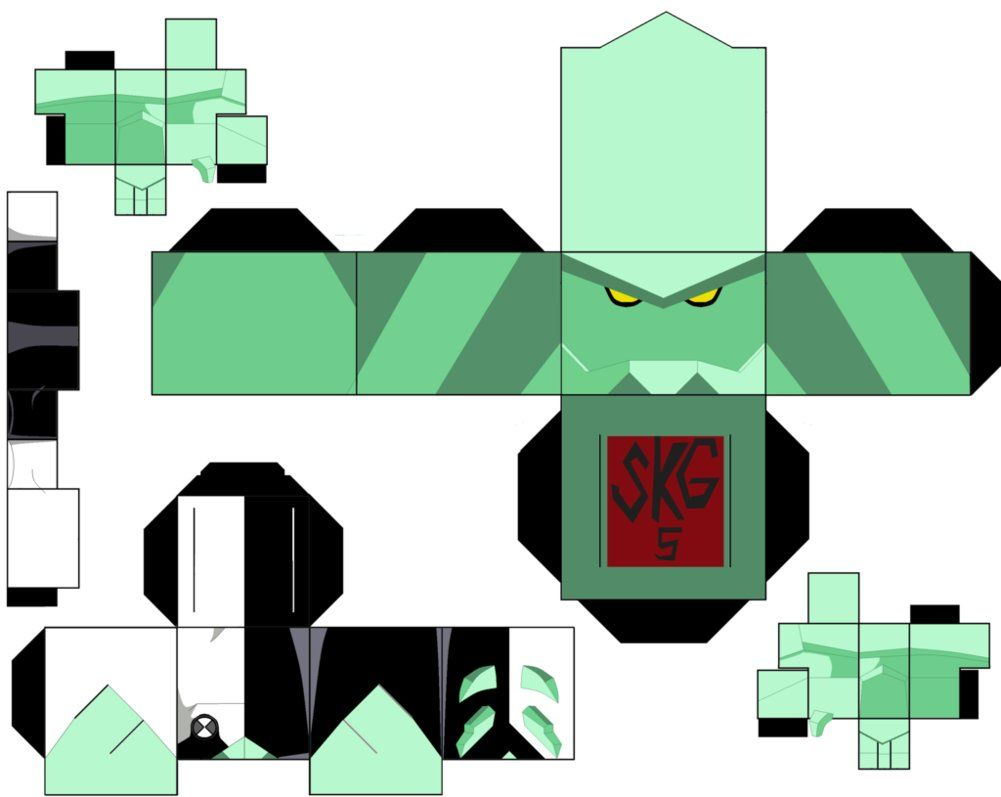 diamondhead by superkamiguru5 on deviantart toys paper craft 3d