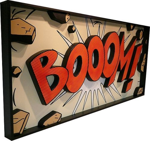 Three Dimensional Wall Art Of Comic Book Graphics. I Need This Now.