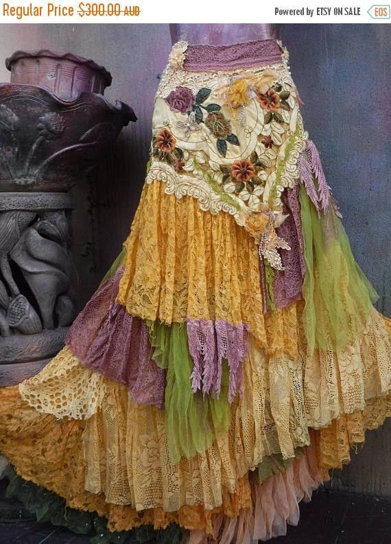 f8f7cfcc4 Wedding skirt,tattered skirt, mori girl, stevie nicks, bohemian ...