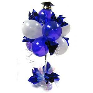 Graduation centerpiece ideas nobbies parties blog for Balloon decoration ideas for graduation