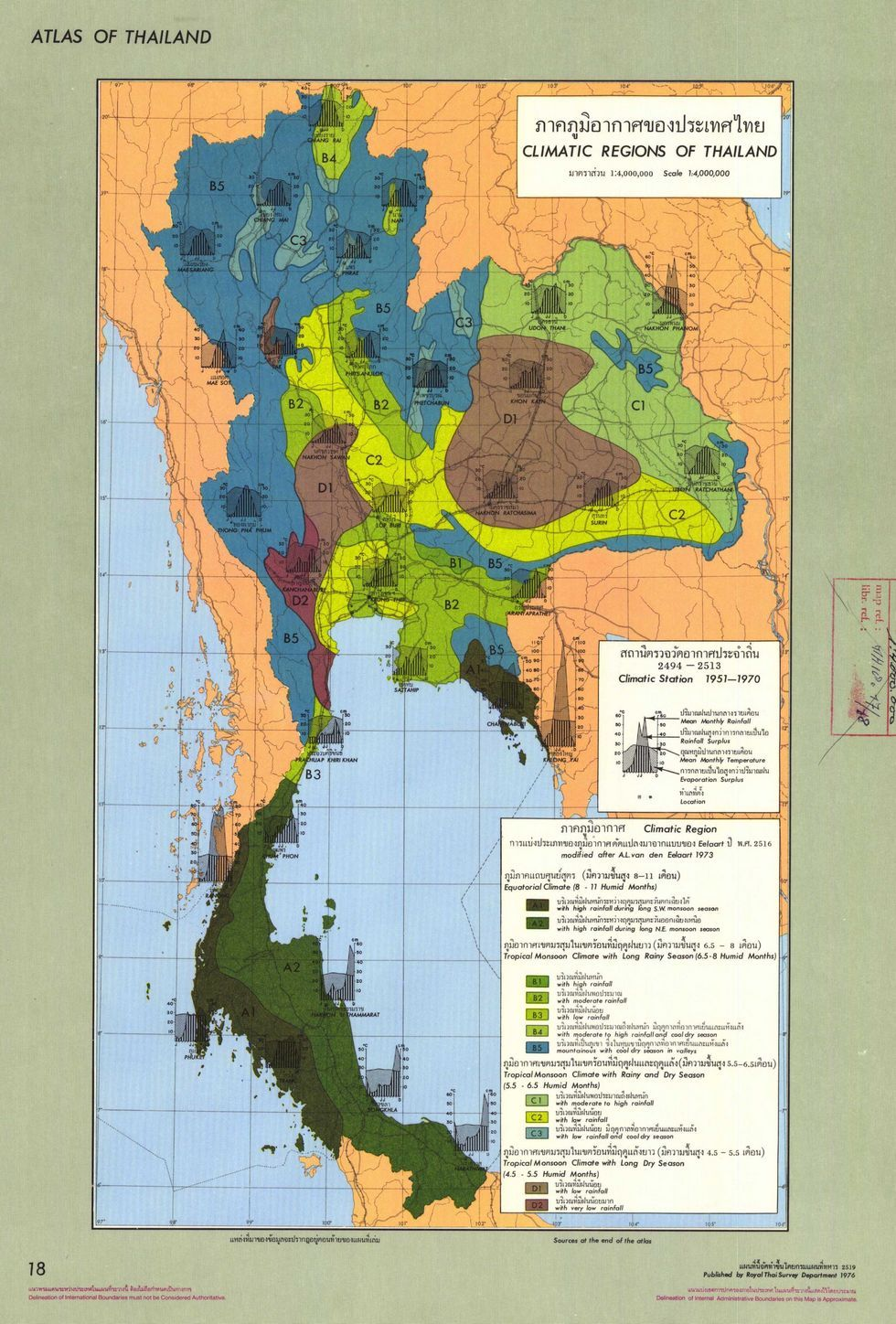 Climatic Regions of Thailand map | m a p s in 2019 | Thailand, Map, Asia