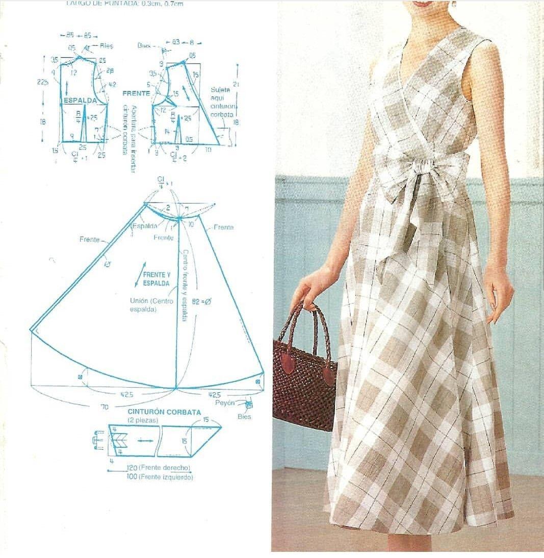 Pin de Beatriz Ferreyra en ropa   Pinterest   Patrones de vestidos ...