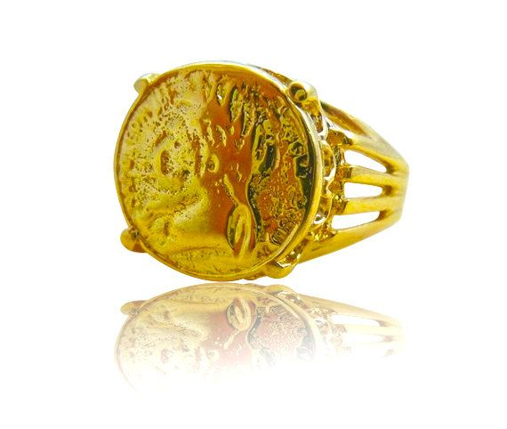 Coin Ring -14K Gold Filled ring, gold coin ring Vintage Ring Coin Jewelry signet coin ring