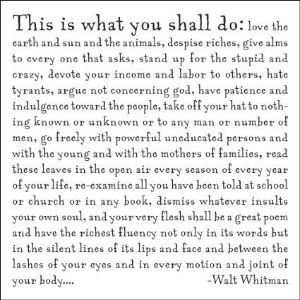 Amazon.com: What You Shall Do - W. Whitman Quotable Card: Arts, Crafts & Sewing