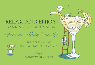 Happy Hour Free Printable Party Invitation Template Greetings