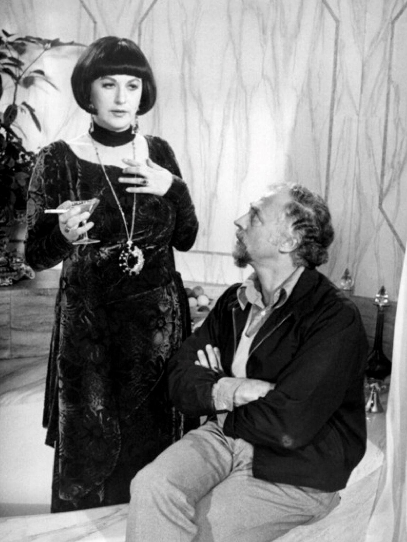 Bea arthur and director husband gene saks on the set of